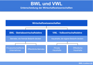 BWL und VWL: Unterscheidung der Wirtschaftswissenschaften