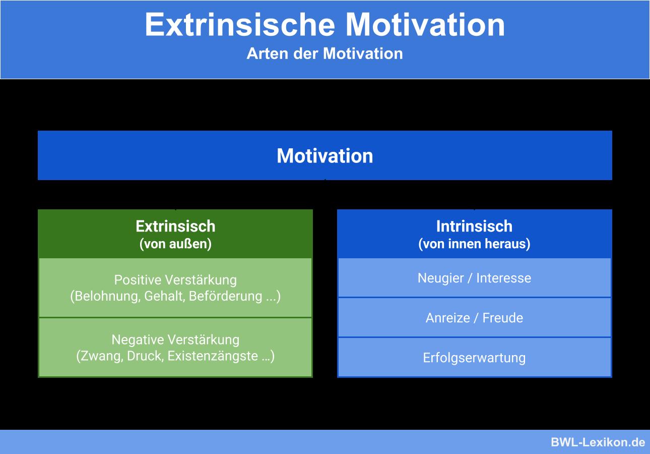 Extrinsische Motivation: Arten der Motivation