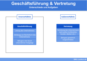Geschäftsführung & Vertretung: Unterschiede und Aufgaben