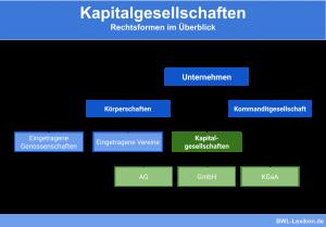 Kapitalgesellschaften: Die Rechtsformen im Überblick