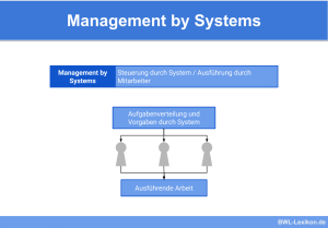 Management by Systems