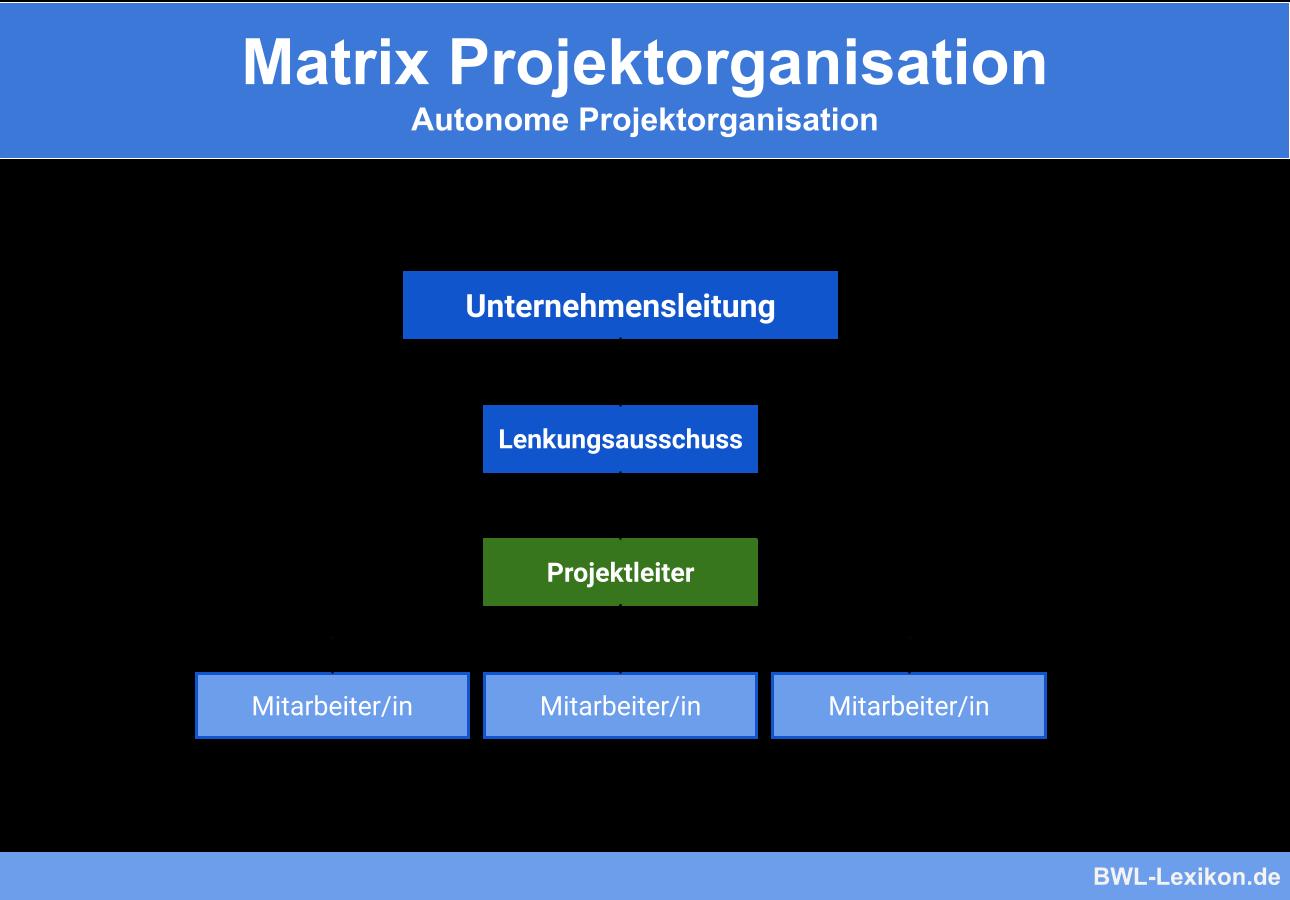 Autonome Projektorganisation im Rahmen einer Matrix Projektorganisation