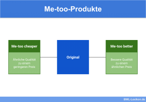 "Me-too-Produkte: ""Me-too cheaper"" und ""Mee-too better"""