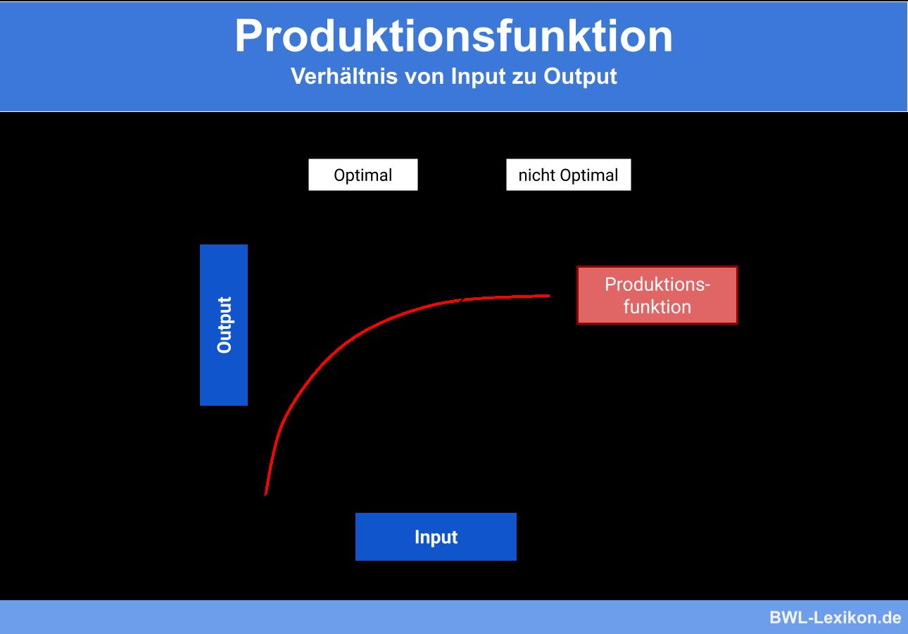 Produktionsfunktion: Verhältnis von Input zu Output