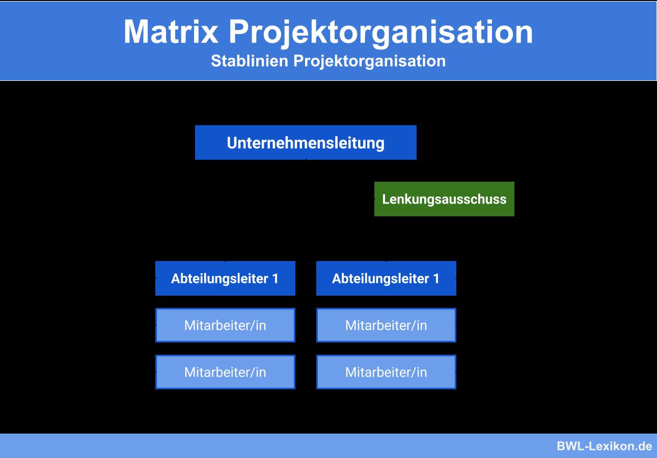 Stablinien Projektorganisation