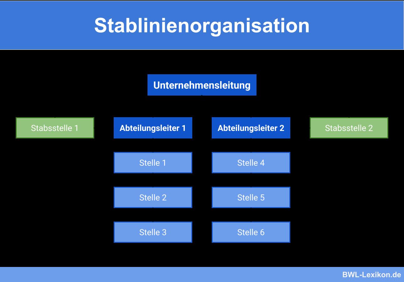 Stablinienorganisation: Aufbau