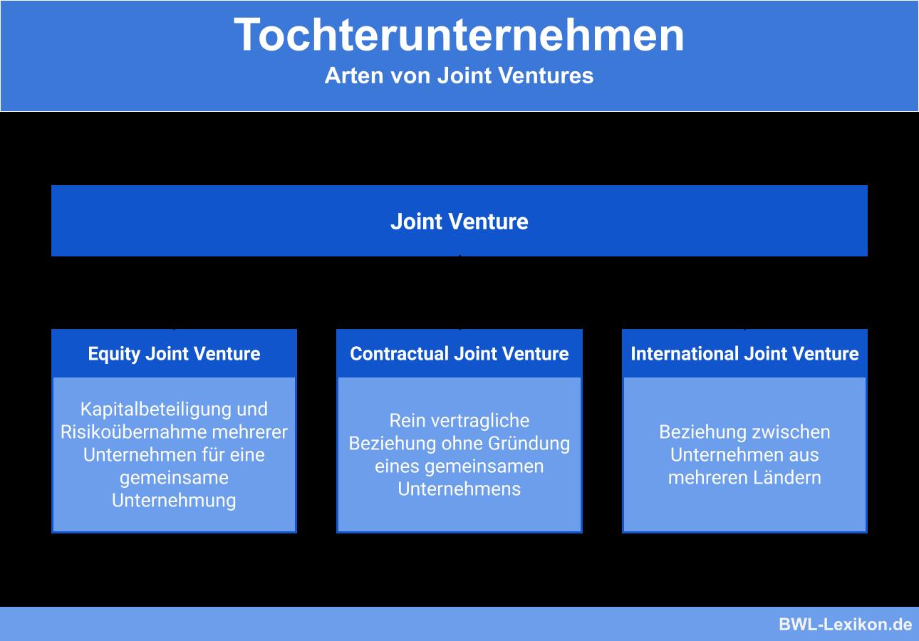 Arten von Joint Ventures