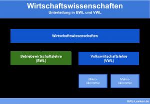 Wirtschaftswissenschaften: Unterscheidung von BWL und VWL